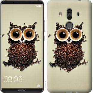 Чехол на Huawei Mate 10 Pro Сова из кофе