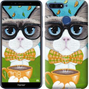 Чехол на Huawei Honor 7A Pro CatandCoffee