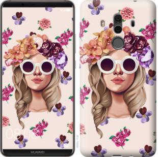 Чехол на Huawei Mate 10 Pro Девушка с цветами v2