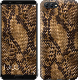 Чехол на Huawei Honor V10 / View 10 Змеиная кожа