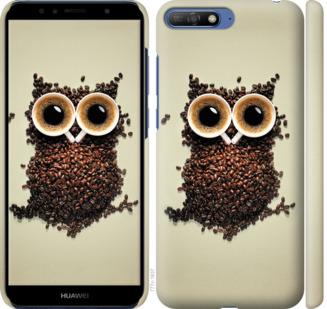 Чехол на Huawei Y6 2018 Сова из кофе