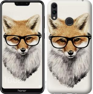 Чехол на Huawei Honor 8C Лис в очках