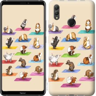 Чехол на Huawei Honor Note 10 Йога морских свинок