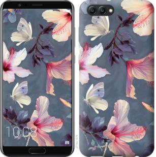 Чехол на Huawei Honor V10 / View 10 Нарисованные цветы