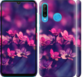 Чехол на Huawei P30 Lite Пурпурные цветы