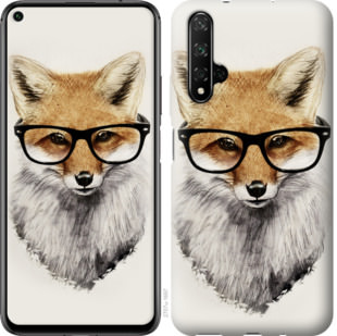 Чехол на Huawei Honor 20 Лис в очках