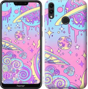 Чехол на Huawei Honor 8C Розовая галактика