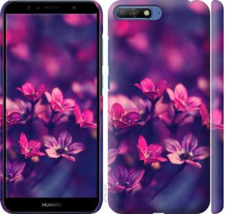 Чехол на Huawei Y6 2018 Пурпурные цветы