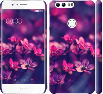 Чехол на Huawei Honor 8 Пурпурные цветы
