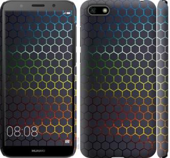 Чехол на Huawei Y5 2018 Переливающиеся соты