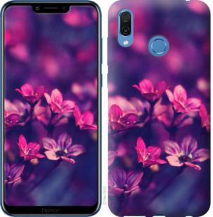Чехол на Huawei Honor Play Пурпурные цветы