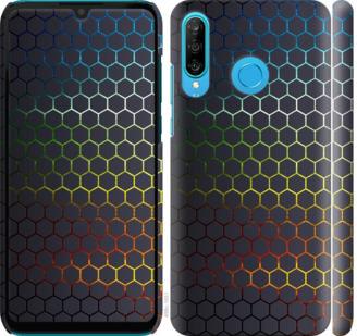 Чехол на Huawei P30 Lite Переливающиеся соты