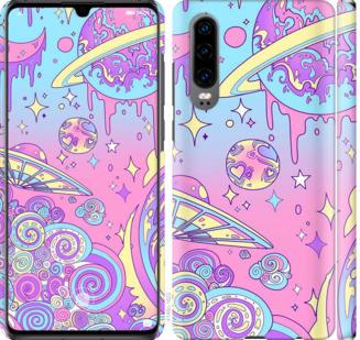 Чехол на Huawei P30 Розовая галактика