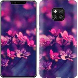 Чехол на Huawei Mate 20 Pro Пурпурные цветы