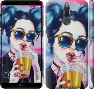 Чехол на Huawei Mate 10 Lite / Honor 9i Арт-девушка в очках