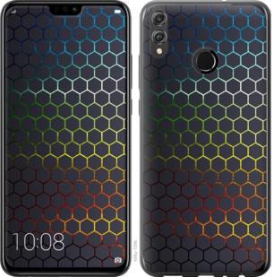 Чехол на Huawei Honor 8X Переливающиеся соты