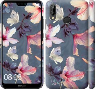 Чехол на Huawei P20 Lite Нарисованные цветы