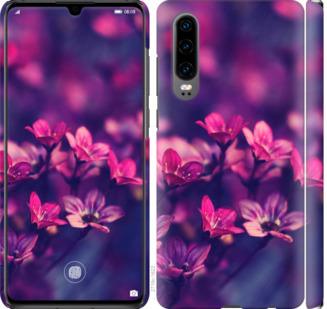 Чехол на Huawei P30 Пурпурные цветы