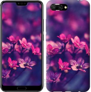 Чехол на Huawei Honor 10 Пурпурные цветы