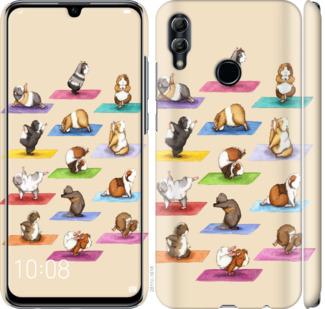 Чехол на Huawei Honor 10 Lite Йога морских свинок
