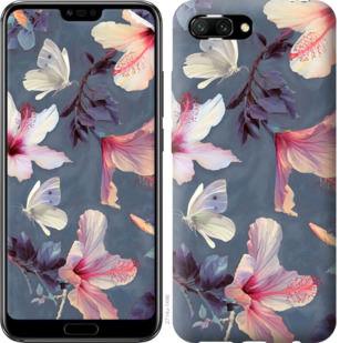 Чехол на Huawei Honor 10 Нарисованные цветы