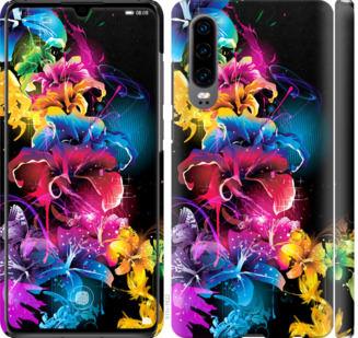 Чехол на Huawei P30 Абстрактные цветы