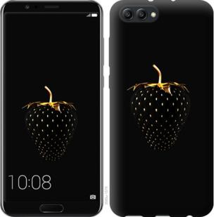 Чехол на Huawei Honor V10 / View 10 Черная клубника