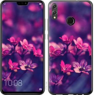 Чехол на Huawei Honor 8X Пурпурные цветы