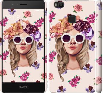 Чехол на Huawei P9 Lite Девушка с цветами v2