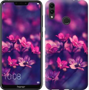 Чехол на Huawei Honor 8C Пурпурные цветы