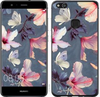 Чехол на Huawei P10 Lite Нарисованные цветы