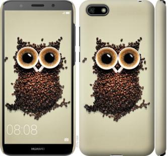 Чехол на Huawei Y5 2018 Сова из кофе
