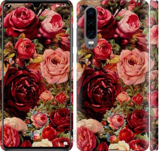 Чехол на Huawei P30 Цветущие розы