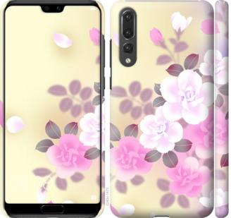 Чехол на Huawei P20 Pro Японские цветы