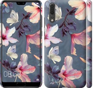 Чехол на Huawei P20 Нарисованные цветы