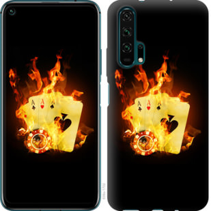 Чехол на Huawei Honor 20 Pro Горящие карты
