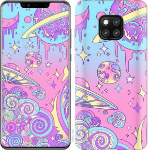 Чехол на Huawei Mate 20 Pro Розовая галактика