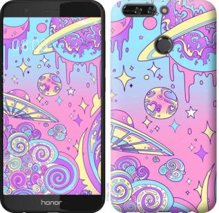 Чехол на Huawei Honor V9 / Honor 8 Pro Розовая галактика