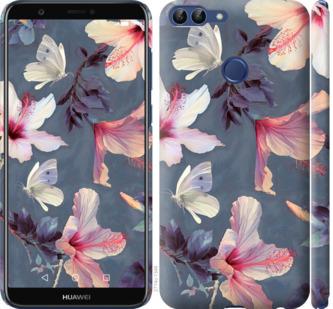 Чехол на Huawei P Smart Нарисованные цветы