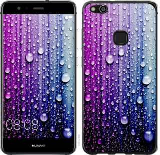 Чехол на Huawei P10 Lite Капли воды