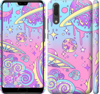 Чехол на Huawei P20 Розовая галактика
