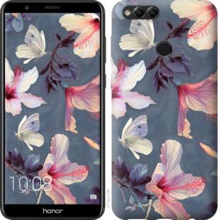 Чехол на Huawei Honor 7X Нарисованные цветы