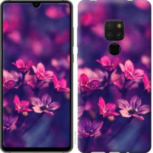 Чехол на Huawei Mate 20 Пурпурные цветы