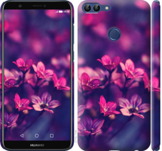 Чехол на Huawei P Smart Пурпурные цветы