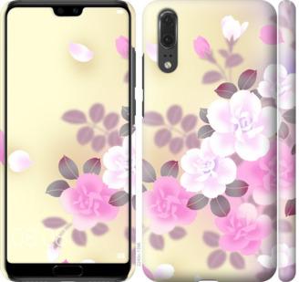 Чехол на Huawei P20 Японские цветы