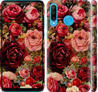Чехол на Huawei P30 Lite Цветущие розы
