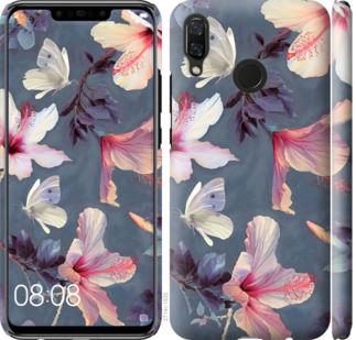 Чехол на Huawei Nova 3 Нарисованные цветы
