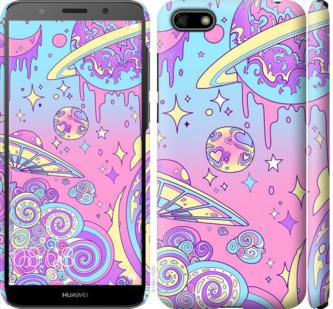 Чехол на Huawei Y5 2018 Розовая галактика