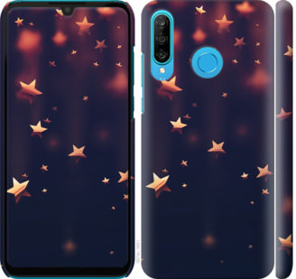 Чехол на Huawei P30 Lite Падающие звезды