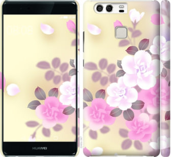 Чехол на Huawei P9 Японские цветы